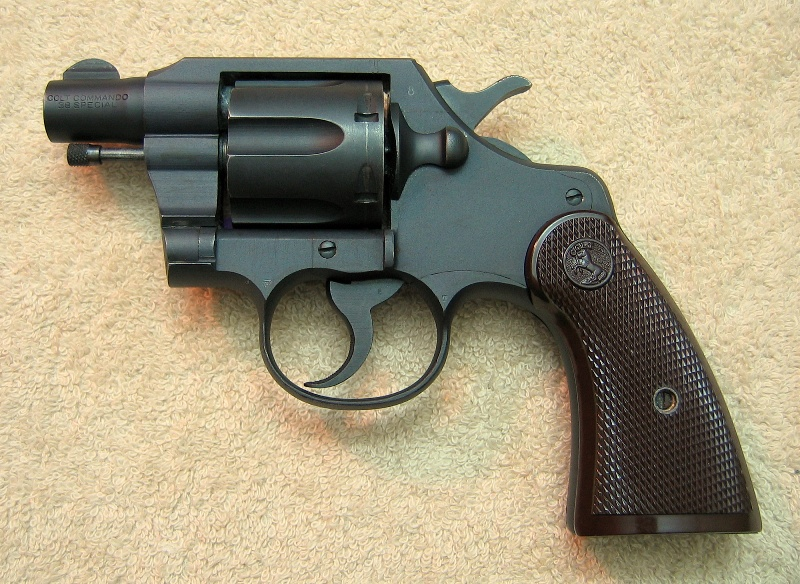 "1943 Colt Commando with 2"" bbl. used in Pacific Theatre during WWII."