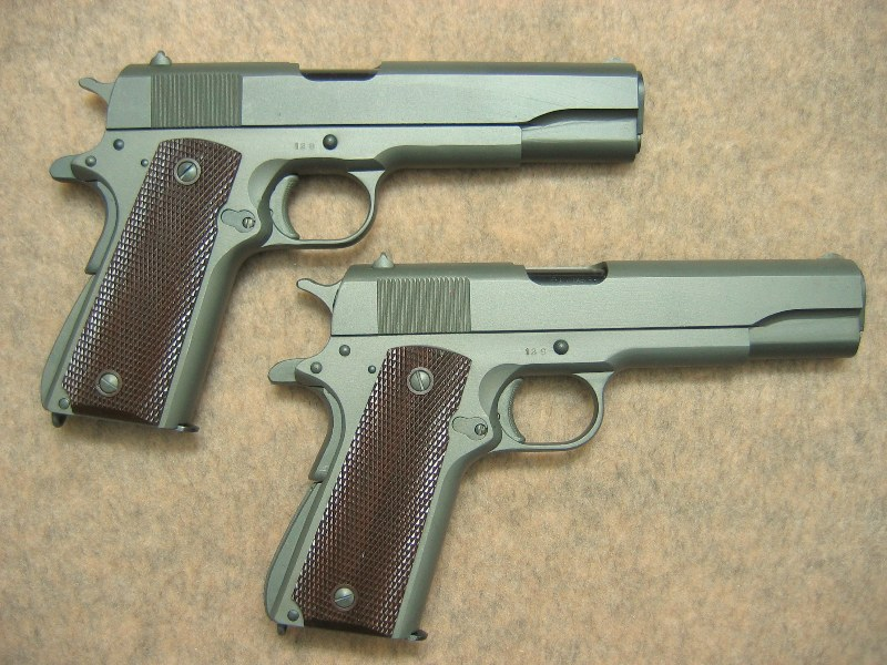 Consecutive numbered pair or Remington Rand Presentation Pistols 128 & 129