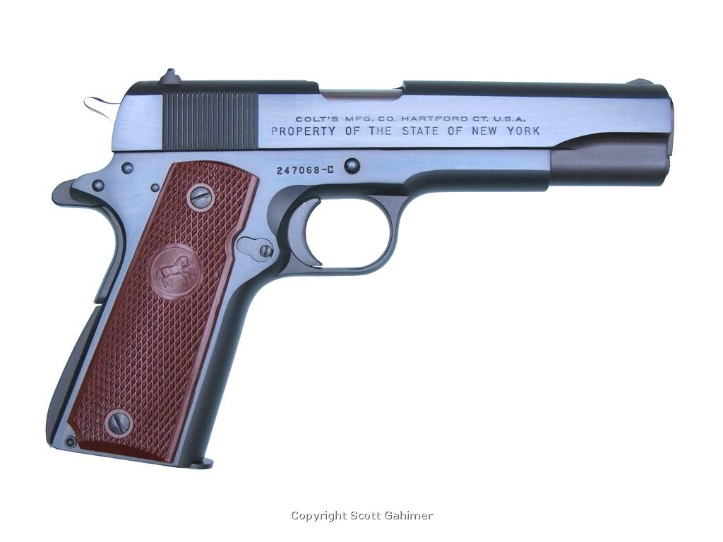 1 of only 250 Colt Govt. Models sold to State of NY in 1950 due to Korean War.